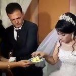 Novio golpea a su pareja en plena celebración de su boda