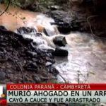 Encuentran cuerpo de joven desaparecido en Cambyretá