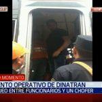 Agentes de Dinatran sometieron a golpiza a chofer y a su hijo, denuncian