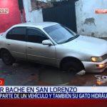"""Bache """"traga"""" parte de un vehículo en San Lorenzo"""